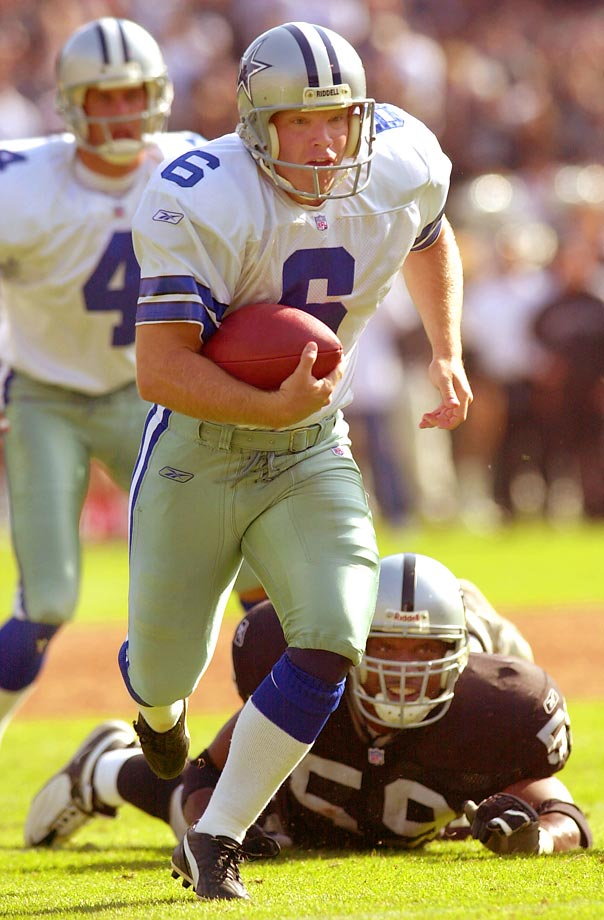 Kicker Tim Seder only played three years in the NFL, two of which came with Dallas. But in those two years as a Cowboy, he scored two rushing touchdowns, including an eight-yard scamper in a 2001 loss to the Raiders.