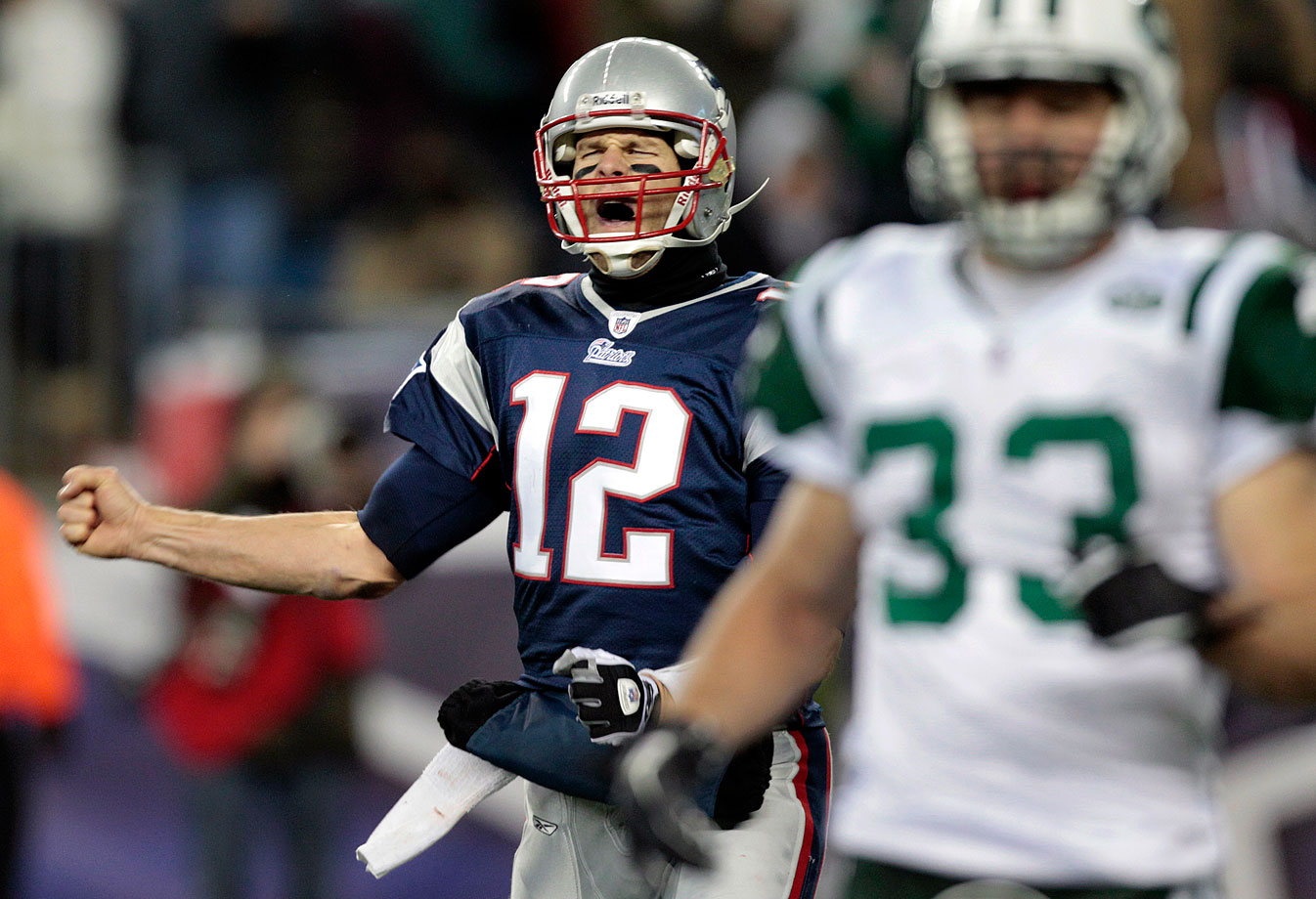 "Brady had a little fun with his least favorite team in 2010, when the Patriots dominated the Jets 45-3. The New England quarterback jawed at the New York sideline after two touchdowns, including once in the direction of Jets head coach Rex Ryan. Ryan was not amused with Brady's taunts. ""[Brady] took a shot at me by his antics on the field,"" Ryan said. ""He always points [to everybody] after he scores."""