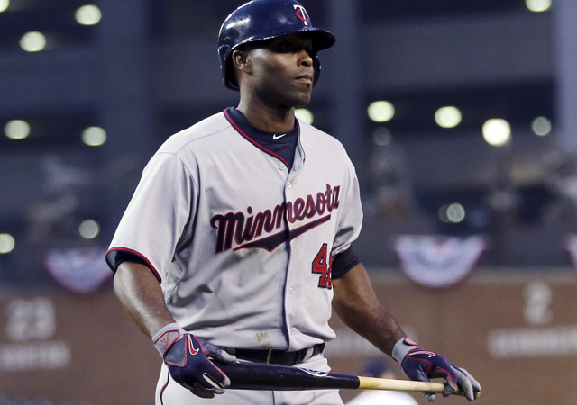 Torii Hunter has just three hits in 23 at-bats for the 1–6 Twins.