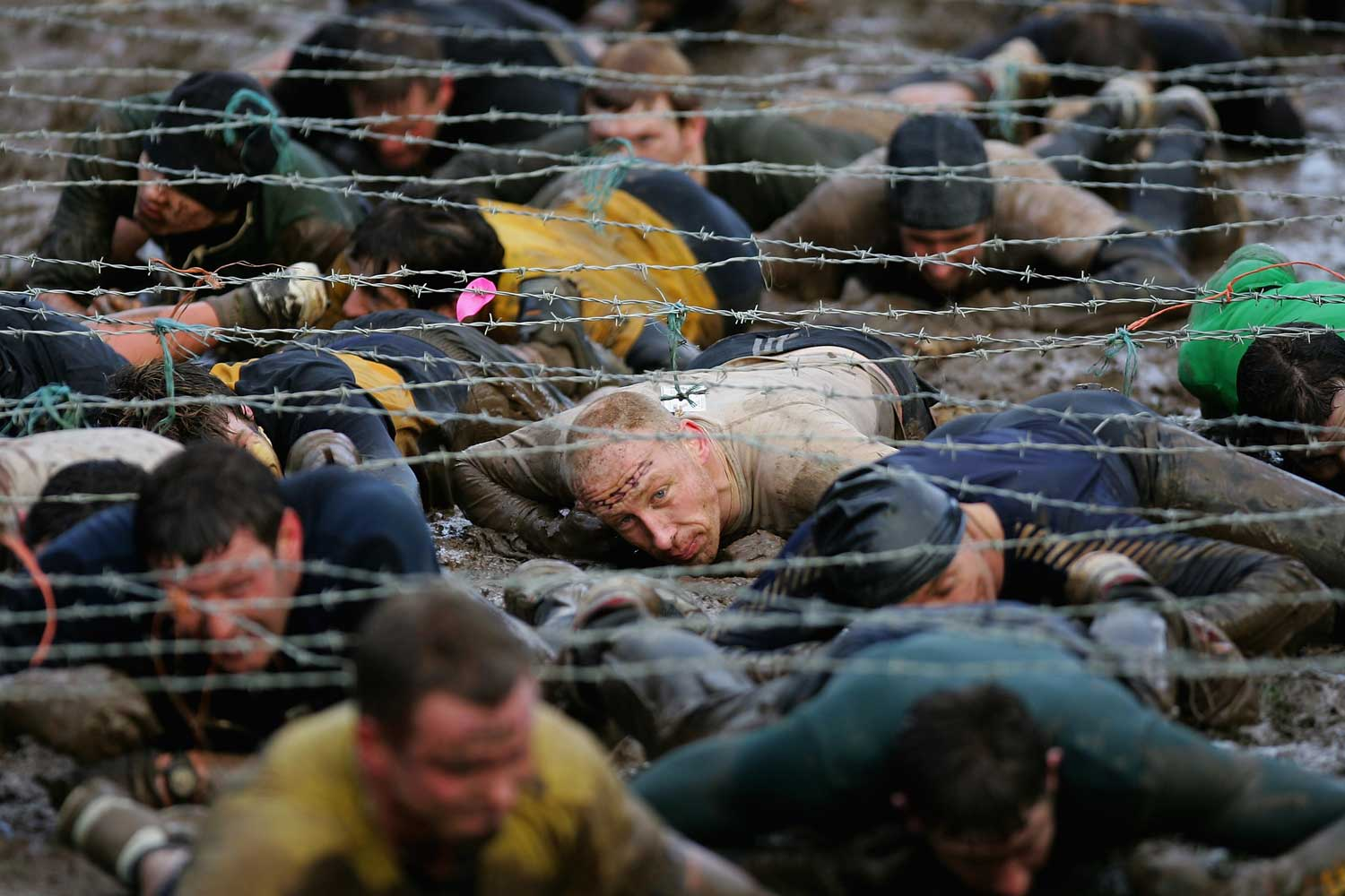 The annual Tough Guy Challenge at the South Perton Farm in Wolverhampton, England.