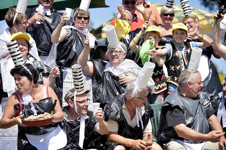 Fans at the Tour de France.