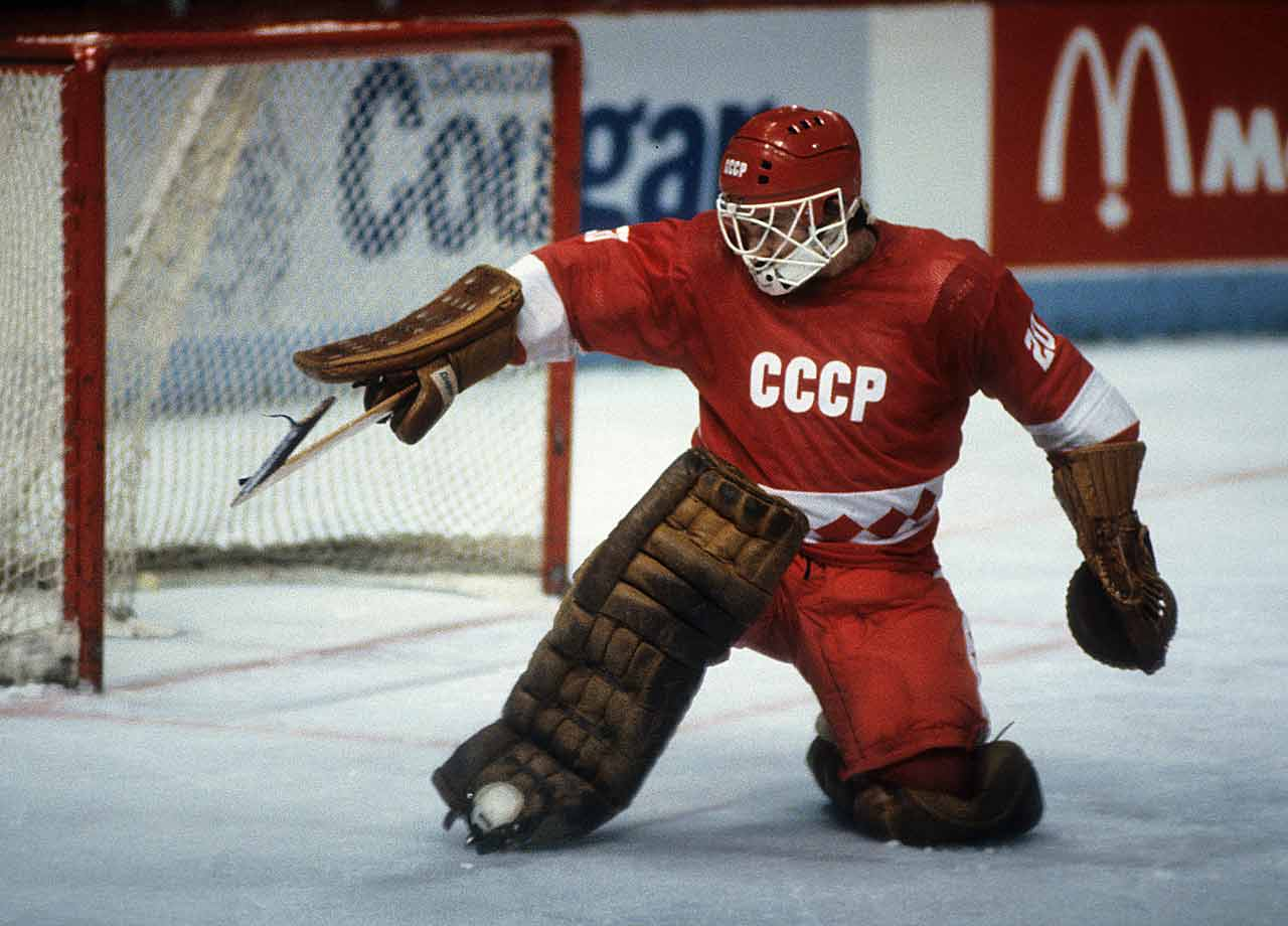 Who knows if Tretiak would be considered the greatest goalie of all-time had he played in the NHL, but surely he belongs in the discussion. He won four Olympic medals – three golds and a silver -- ten world championships and, memorably, received a four-minute standing ovation from the crowd at the Montreal Forum after shutting out the Canadiens 5-0 in an exhibition game on Dec. 31, 1982. Montreal drafted him six months later, hoping that he'd one day be released to play in the NHL. It was not to be. -- Brian Cazeneuve