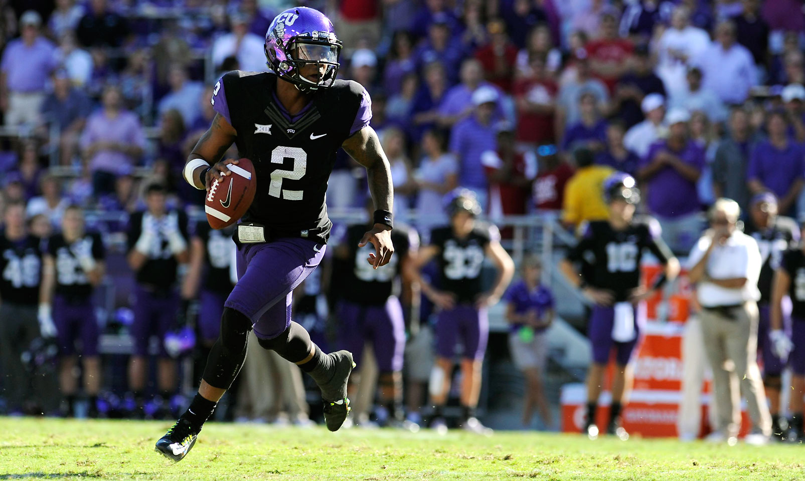 Boykin is arguably the top returning player in college football. He nearly led the Horned Frogs' high-powered offense to the College Football Playoff last season, throwing for over 3,900 yards and 33 touchdowns.