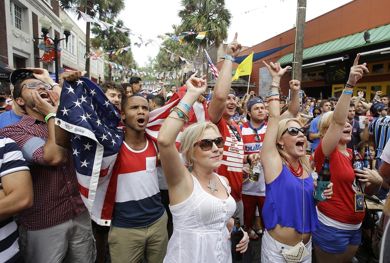 USA fans in Orlando, Fla.