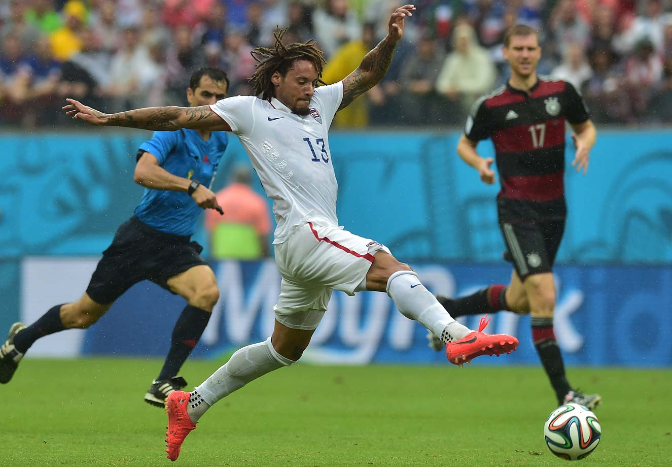 Jermaine Jones plays the ball during the 1-0 loss to Germany.