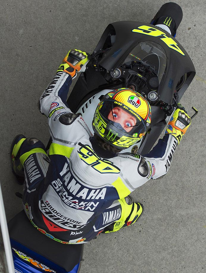 Valentino Rossi of Italy at the MotoGP Tests in Phillip Island.