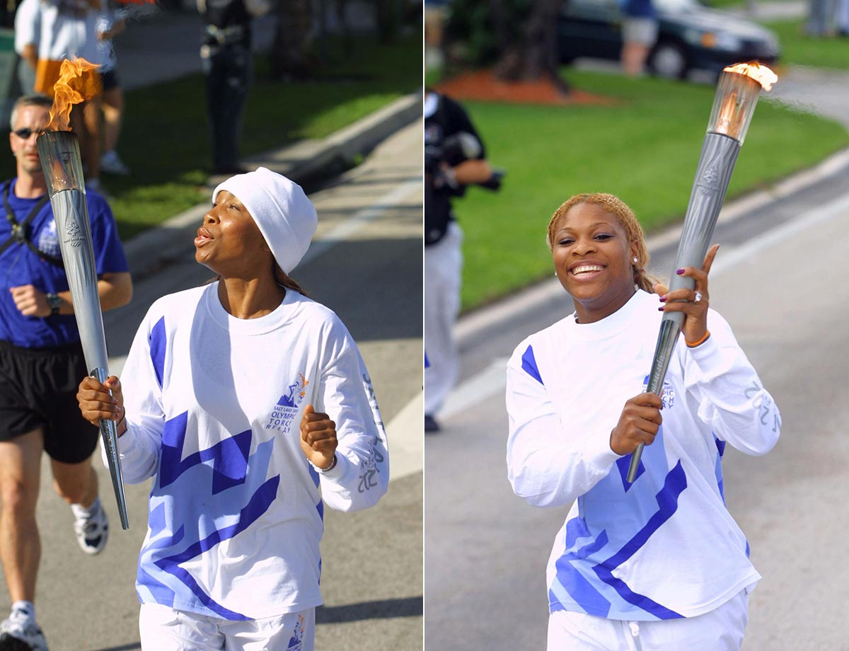 Venus and Serena capped off a busy year in 2001 by carrying the Olympic torches in the leadup to the 2002 Games in Salt Lake City.