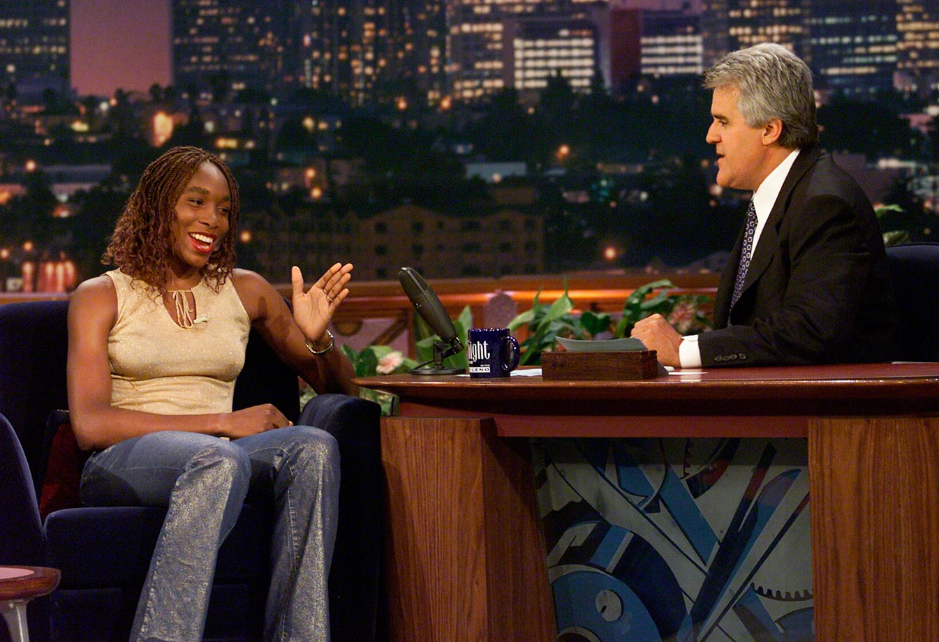 Williams appears on the Tonight Show with Jay Leno. Williams has been a guest on several different TV shows, including Sesame Street, Punk'd and a number of talk shows.