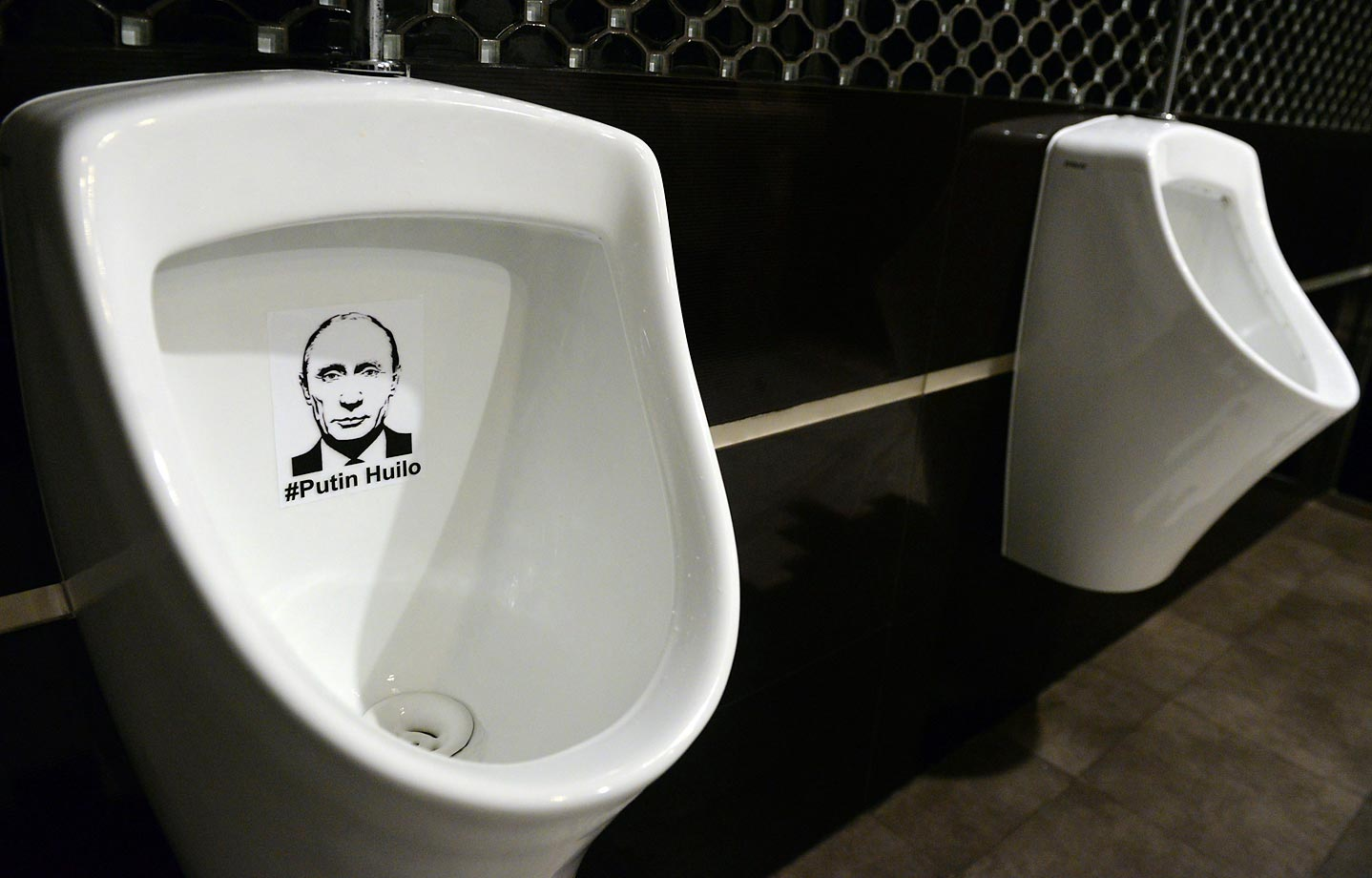 The beloved Russian President is flushed with popular sentiment at this restaurant in the Ukrainian city of Lviv.
