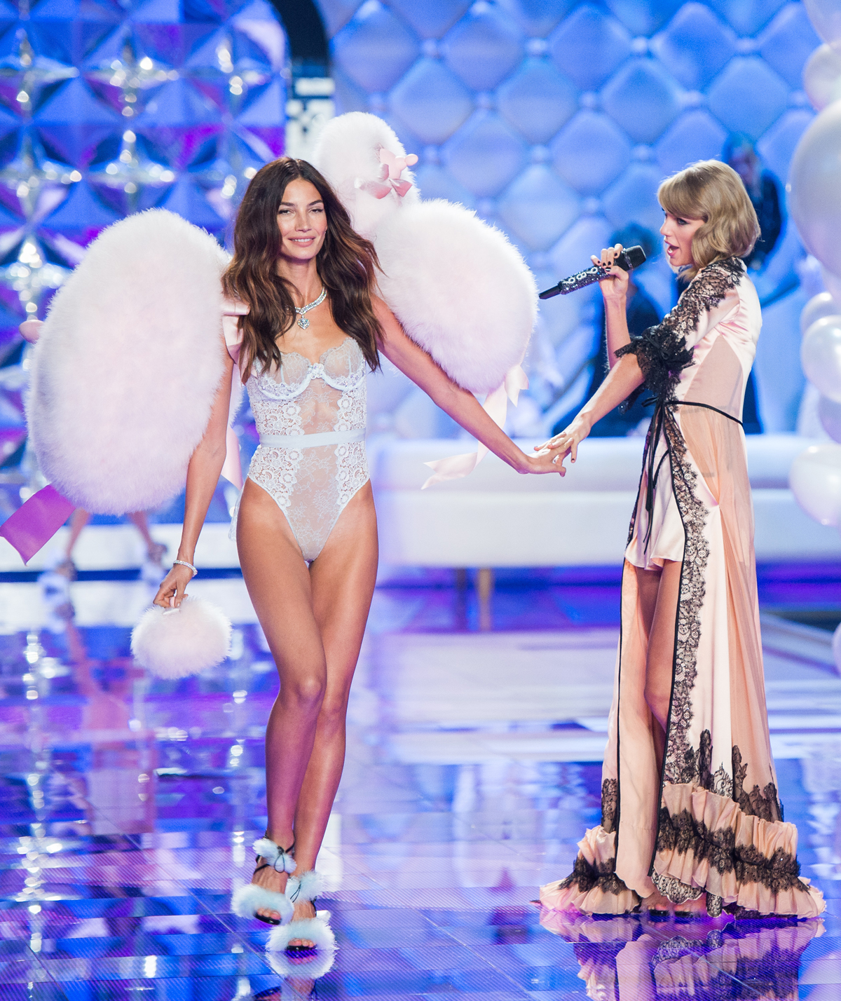 Lily Aldridge with Taylor Swift