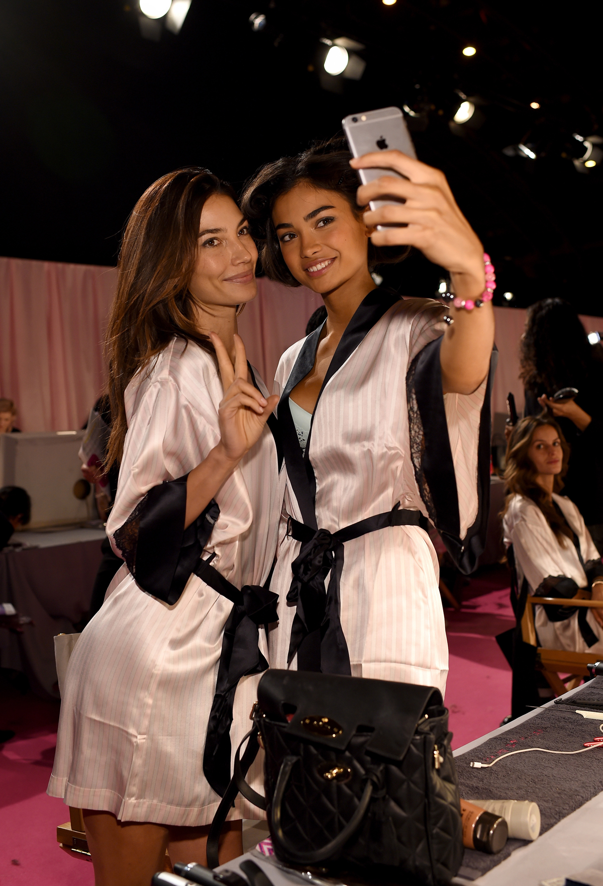 Lily Aldridge with Kelly Gale