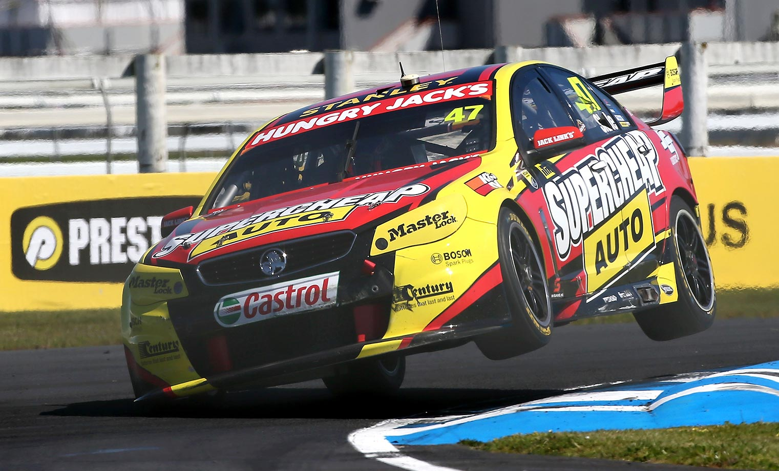 Tim Slade of Supercheap Auto Racing during a race at Pukekohe Stadium. We just like the name of his team.