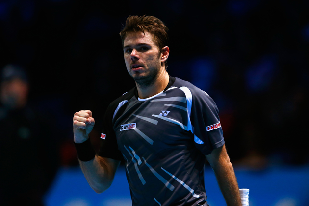 Wawrinka will play Federer in the semifinals on Saturday.