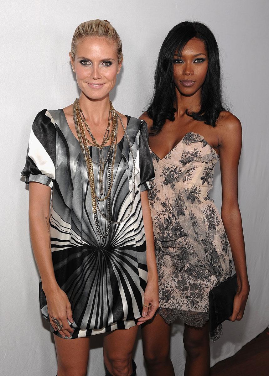 Jessica White and Heidi Klum :: Getty Images