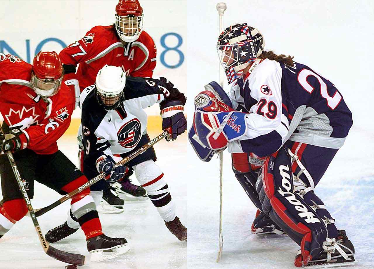 While America's first NHL-based Olympic team was disgracing itself by trashing its dorm and failing to medal in Nagano, the women's squad was rolling to the country's first hockey gold since the Miracle on Ice. Their victory in the sport's inaugural women's event was capped by a 3-1 win over archival Canada, the defending world champions they had to beat twice in four days. In the gold medal match, Forward Sandra Whyte was a factor in all three American tallies and goalie Sandra Tueting made 21 saves while protecting  a 2-1 lead in the teeth of fierce Canadian pressure until Whyte sealed the deal with an empty net goal.
