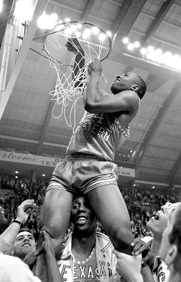 Texas Western guard Willie Worsley is pictured during the 1966 championship game. Texas Western defeated  Kentucky in the final and Utah in one of the semifinals.
