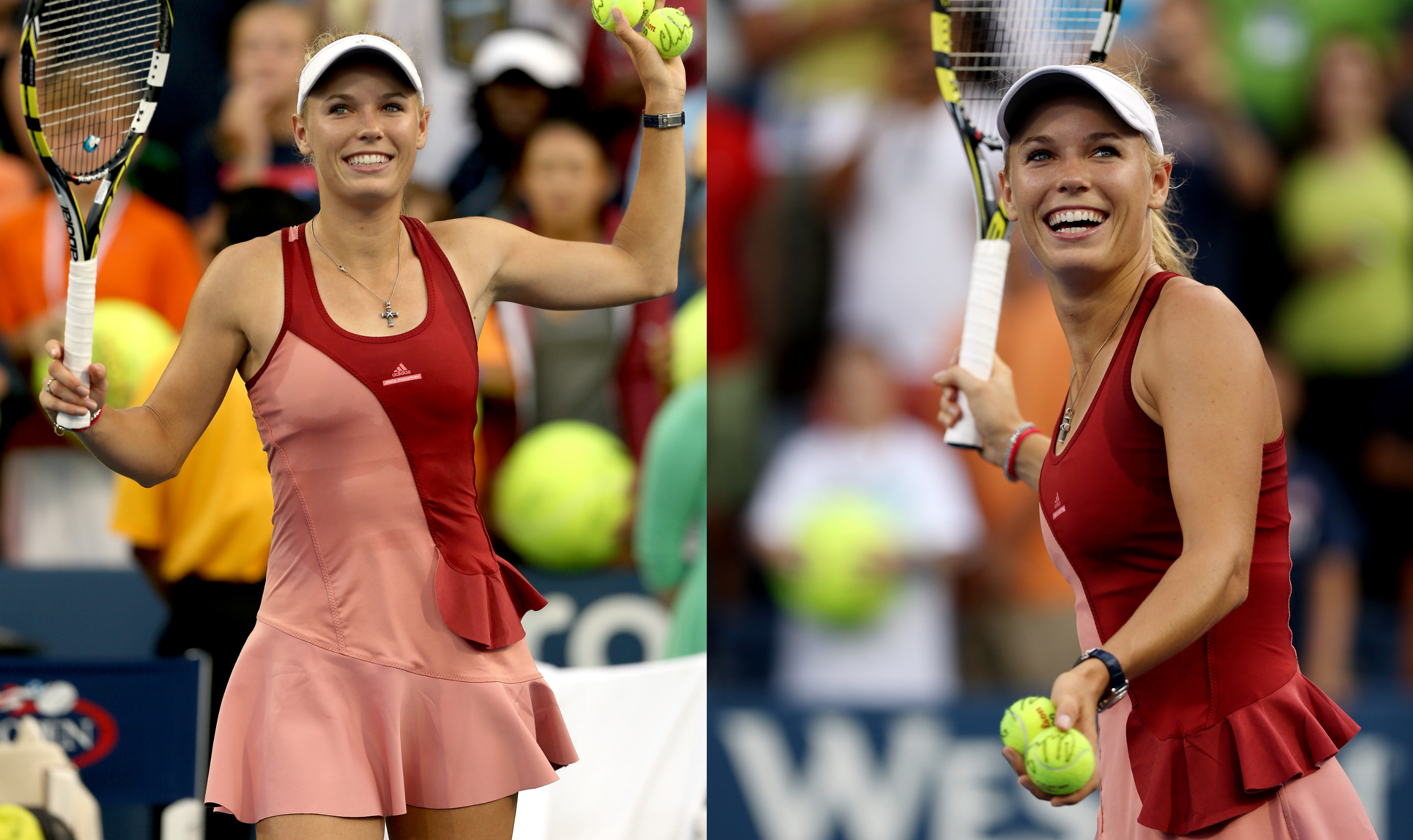 Although she had a good run, Wozniacki wore more unnecessary ruffles.