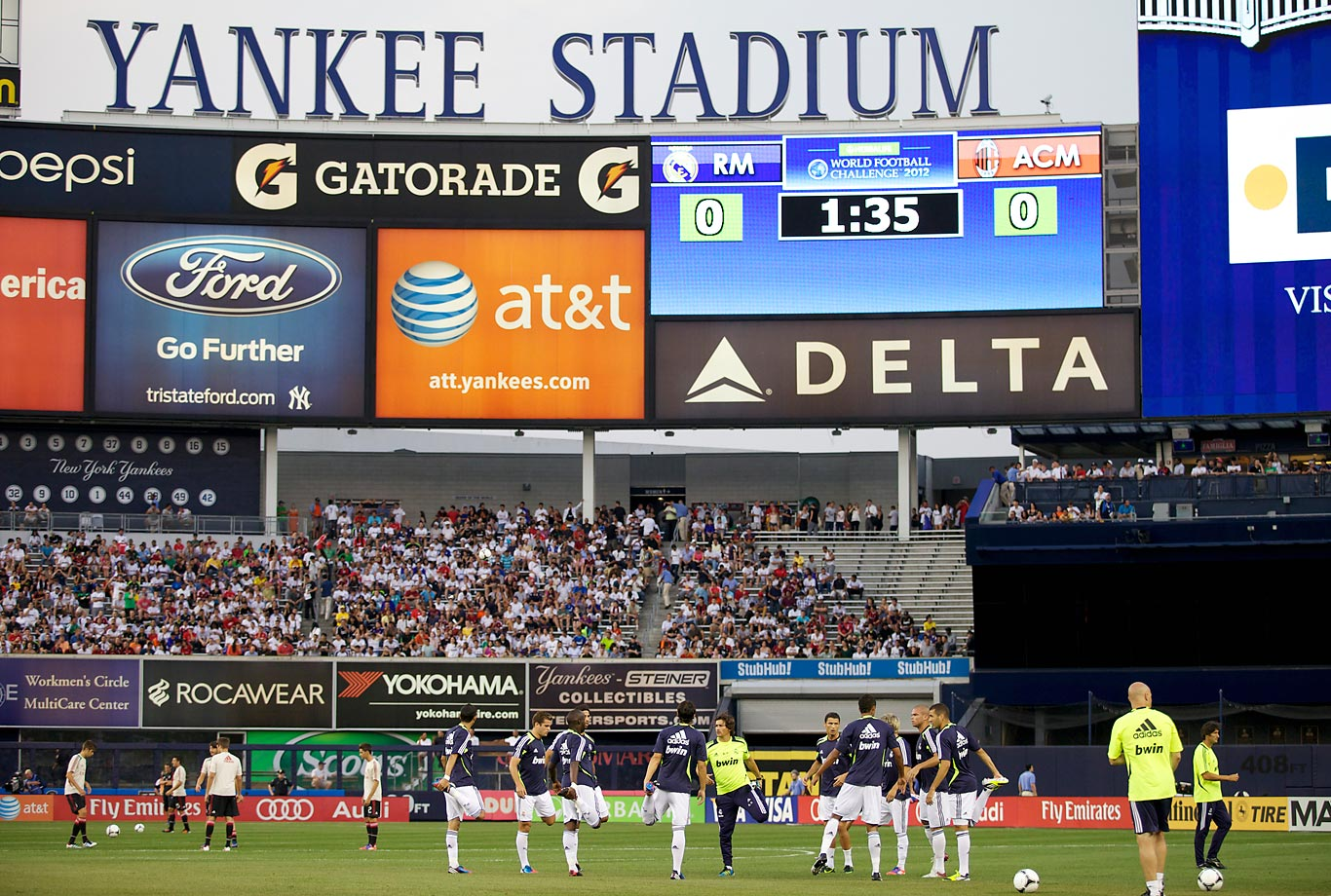 Real Madrid played AC Milan at Yankee Stadium on Aug. 8, 2012.