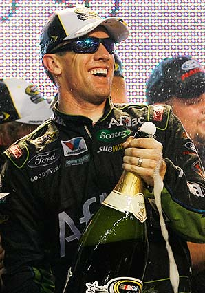 Carl Edwards hit Victory Lane in last year's All-Star Race.