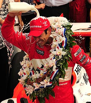 Helio Castroneves won the Indianapolis 500 in 2001, '02 and '09.