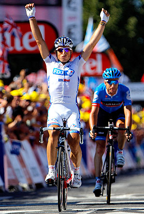 Pierrick Fedrigo, of the FDJ-BigMat team, last won a Tour stage two years ago, also in Pau.