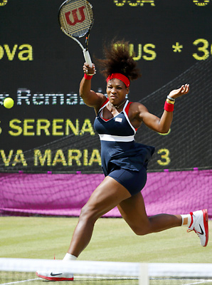 Serena Williams won the first nine games of the gold medal match.