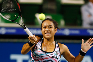 Heather Watson, shown here at the Pan Pacific Open, is the first British woman to win a WTA title since Sara Gomer in 1988.