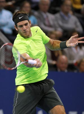 Juan Martin del Potro denied Roger Federer his 77th career singles title.