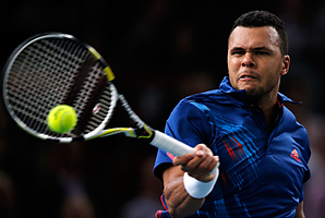 Jo-Wilfried Tsonga needed nearly 2 1/2 hours to get past Benneteau and was forced into a final-set tiebreaker.
