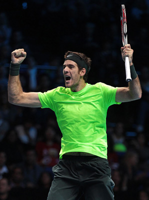 Juan Martin del Porto clinched the last spot in the semifinals of the ATP finals.