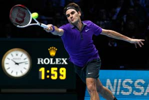 Roger Federer says hard courts are slower than they used to be and easier to defend.