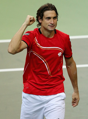 David Ferrer improved his career record to 6-3 against Tomas Berdych.