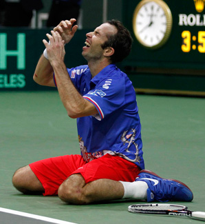 Radek Stepanek, ranked 37 in the world, upset No. 11 Nicolas Almargo to win the Davis Cup for the Czechs.
