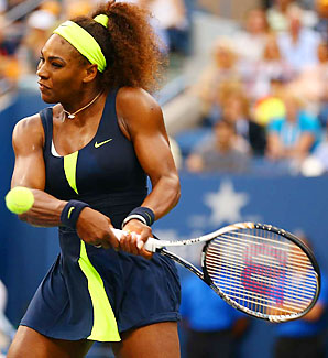 Serena Williams won Wimbledon, the Olympics and the U.S. Open in 2012.