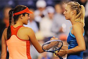 Ana Ivanovic (left) and Maria Sharapova met at Indian Wells this year, Sharapova winning after Ivanovic retired.
