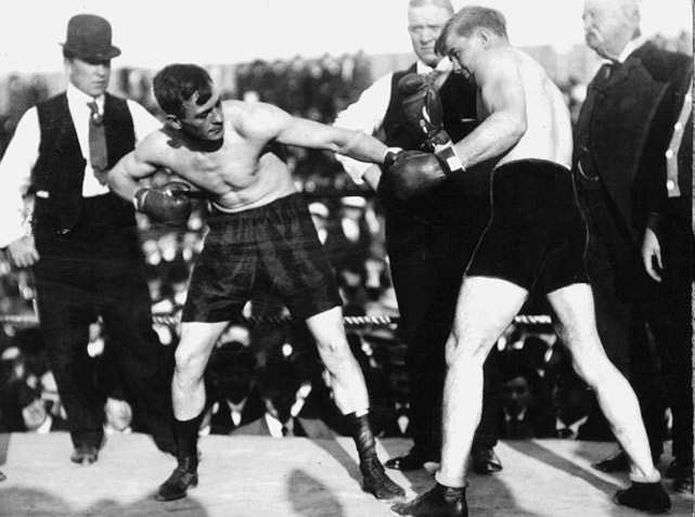 "Ketchel, known as ""The Michigan Assassin,"" defended his middleweight title with a points win over Billy Papke. Papke stopped him in the rematch to win the title, with Ketchel winning it back on a knockout in an immediate rematch. They later fought a fourth time, with Ketchel winning a slugfest to defend his title once more."