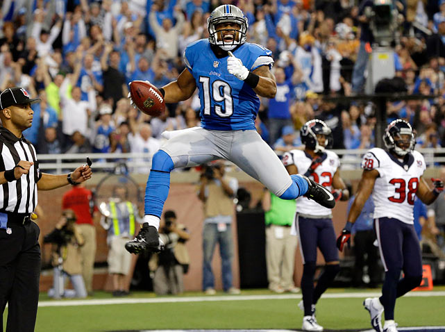 When Matthew Stafford looks to the outside for his second option he'll no longer see Ryan Broyles (torn ACL) or Titus Young (injured reserve, disgruntled, knee). He'll see Thomas, the former Jaguar who was acquired for a draft pick in October as a depth play but now will be asked to step in and replace some of the 4.6 catches per game that went to Broyles and Young.