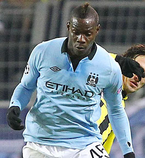 Mario Balotelli and Manchester City became the first club not win a single group-stage match in the Champions League.