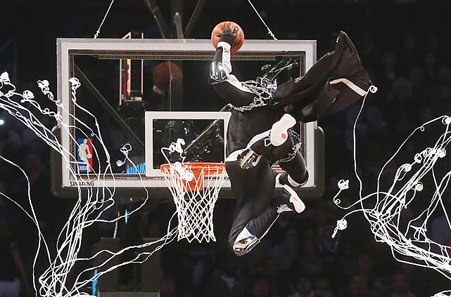 The dark BrooklyKnight rises at the Barclays Center.