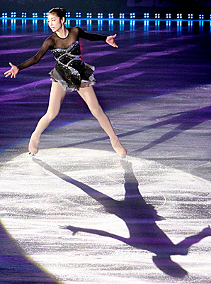 Kim Yu-na, shown here at an August 2011 ice show, hadn't skated competitively since the world championships in Moscow in April 2011