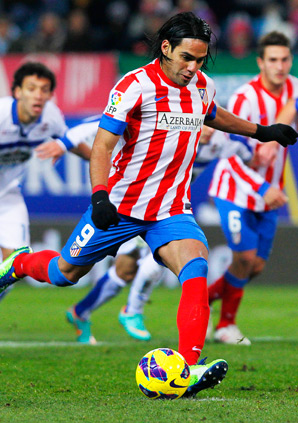Atletico's Radamel Falcao had five goals in a win over Deportivo.