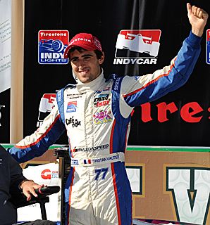 Vautier won his debut race in Indy Lights last season en route to the championship.