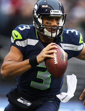 Russell Wilson has thrown 20 touchdowns this season, more than Andrew Luck and Robert Griffin III.
