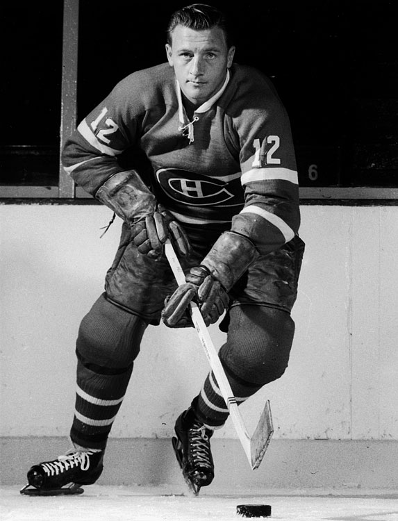 The number 12 jersey has some history with the Montreal Canadiens. Jean Beliveau wore it for a year before it became the property of Dickie Moore. Moore tallied a then-record 96-point season in 1958-59. After his 12-year tenure with the Habs, Moore handed the number off to another future great -- Yvan Cournoyer.