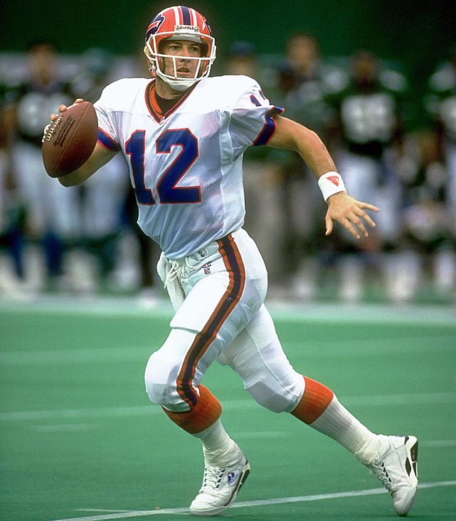 The Buffalo Bills have retired just one jersey in the franchise's history -- Jim Kelly's number 12. Kelly and the Bills were the AFC regular season champions for four consecutive years. Kelly was inducted into the Hall of Fame in 2002, after throwing 237 career touchdowns.