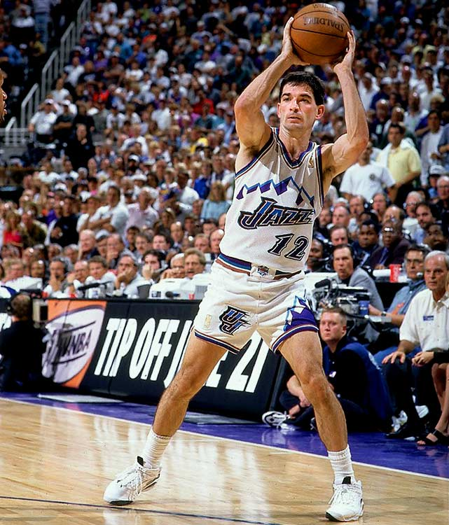 Utah's Hall of Fame point guard was an assists machine. He led the league in assists for nine consecutive years and finished with the all-time record: 15,806. That's 3,800 more than any other player.