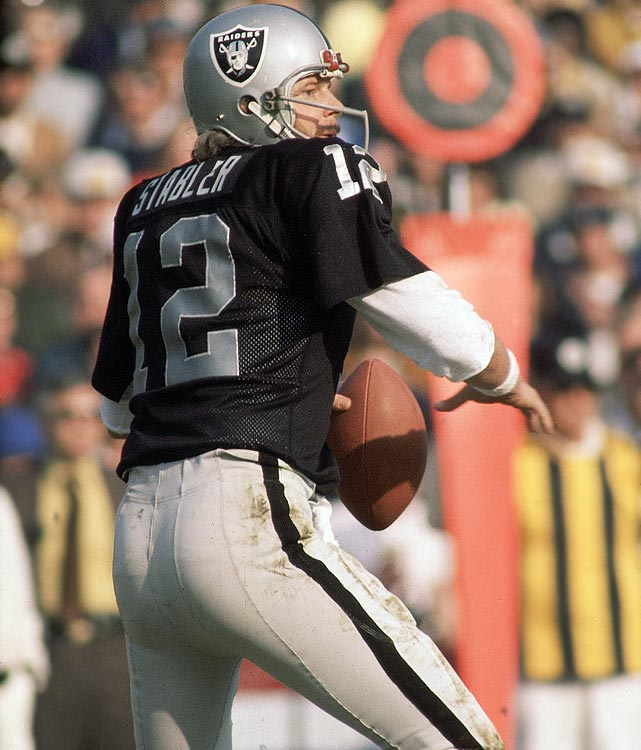 Quarterback Ken Stabler wore number 12 for 10 years with the Raiders and two years with the Oilers. In that time, he appeared in four Pro Bowls and helped his team win Super Bowl XI.