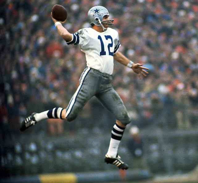 Roger Staubach wore number 12 at Navy -- where he won the Heisman Trophy -- and he wore it with the Cowboys -- where he won the Super Bowl twice. Staubach finished with a career record of 85-29.
