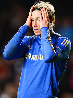 Fernando Torres and Chelsea became the first club to be bounced from the Champions League group stage a season after winning the title.