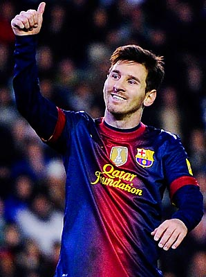 Lionel Messi overcame a knee injury to surpass Gerd Muller's mark.